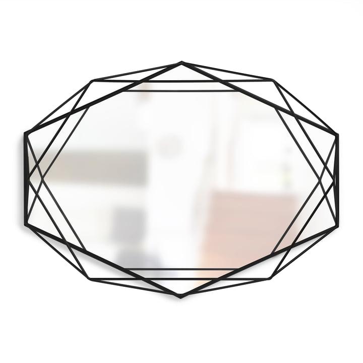 Prisma Spiegel von Umbra in schwarz