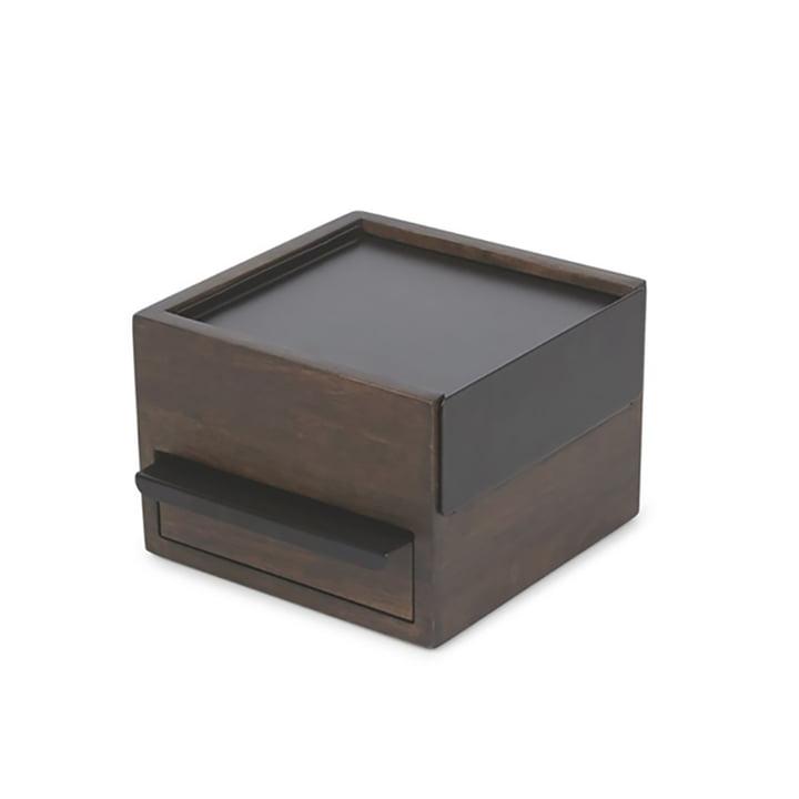 Stowit Mini Schmuckkasten von Umbra in Walnuss / schwarz