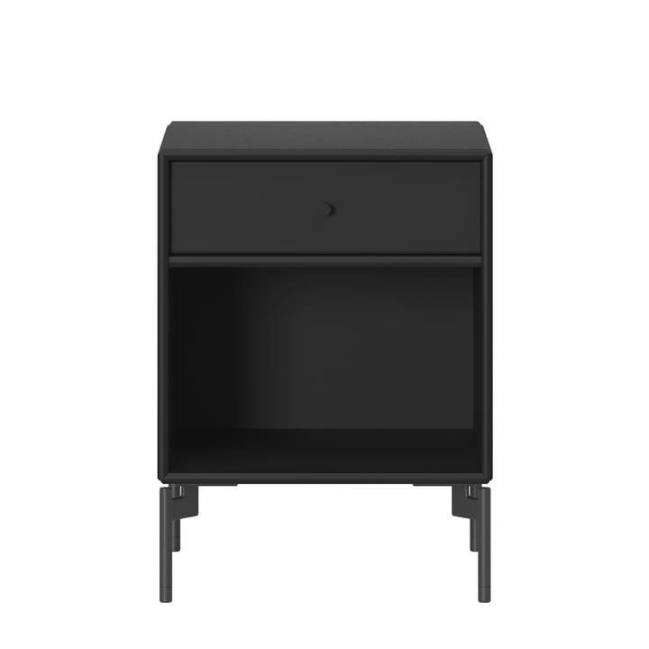 Dream Nachttisch mit Beinen von Montana in schwarz