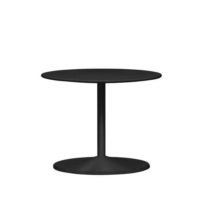 Panton Beistelltisch Ø 60 x H 45 cm von Montana in Linoleum schwarz / schwarz