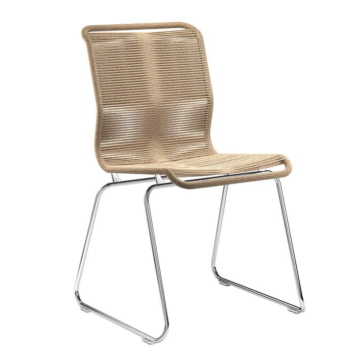 Panton One Stuhl von Montana in Papierschnur natur / Chrom
