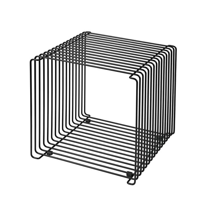 Panton Wire Regal / Beistelltisch 34,8 cm von Montana in schwarz