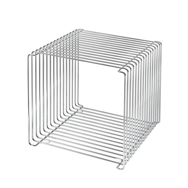 Panton Wire Regal / Beistelltisch 34,8 cm von Montana in Chrom