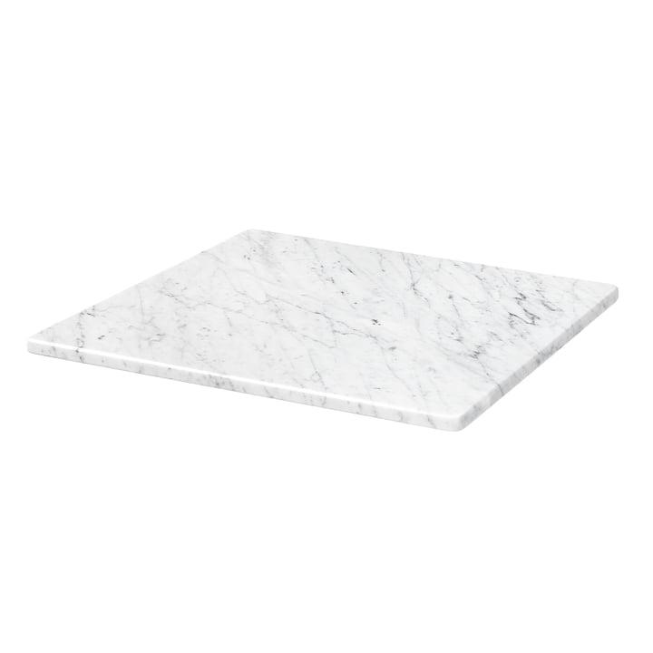 Abdeckplatte für Panton Wire 34,8 x 34,8 cm von Montana in Marmor weiß