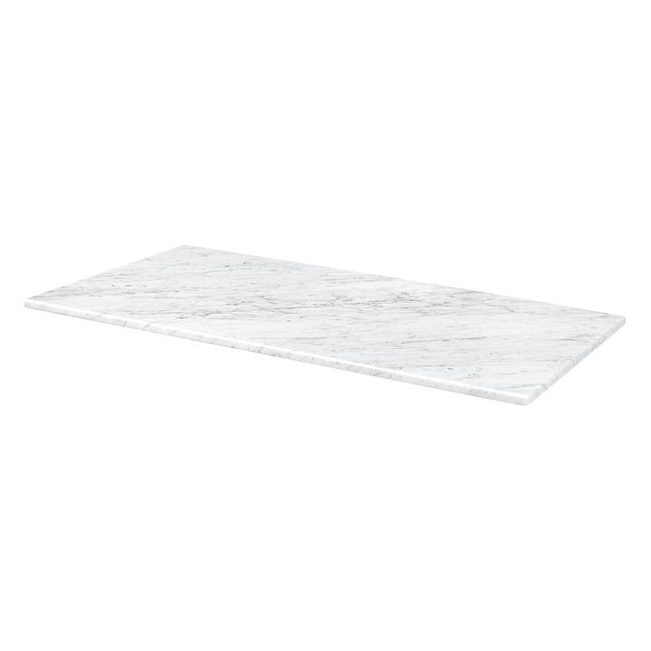 Abdeckplatte für Panton Wire 70,1 x 34,8 cm von Montana in Marmor weiß