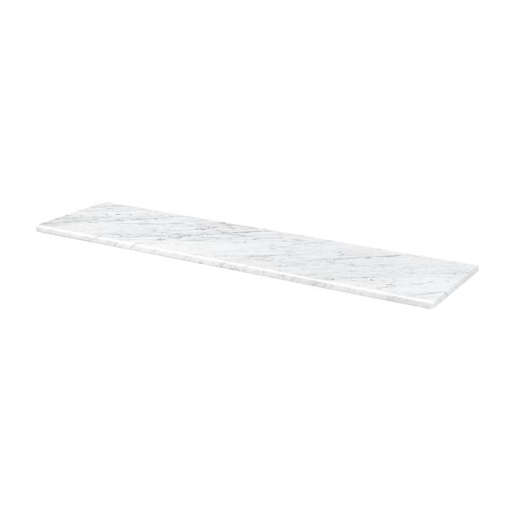 Abdeckplatte für Panton Wire 70,1 x 18,8 cm von Montana in Marmor weiß