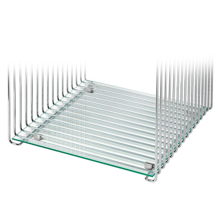 Regalboden für Panton Wire 34,8 cm von Montana in klarglas