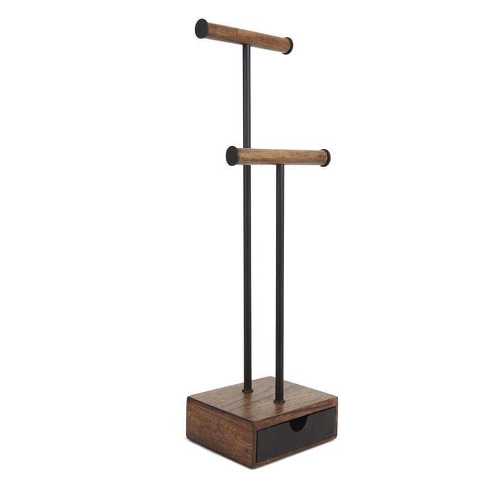 Pillar Schmuckständer von Umbra in Walnuss / schwarz