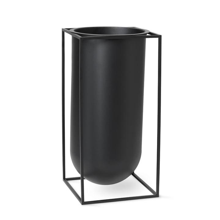 Kubus Vase Nolia von by Lassen in schwarz