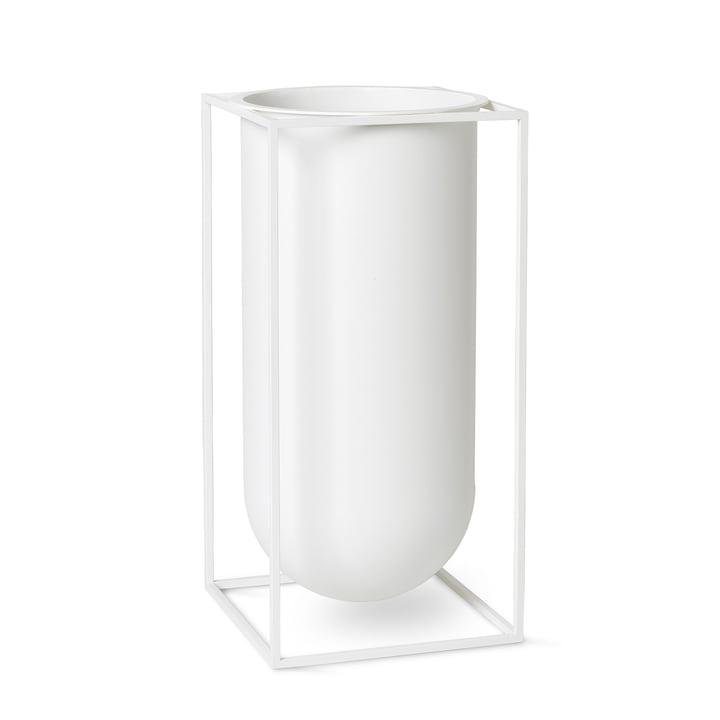 Kubus Vase Nolia von by Lassen in weiß
