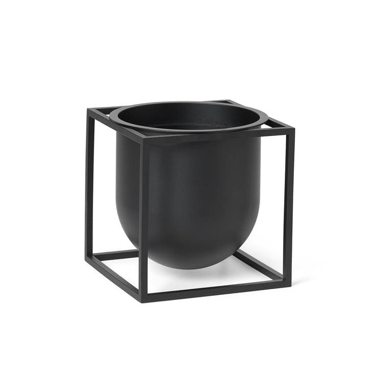 Kubus Flowerpot 14 von by Lassen in schwarz