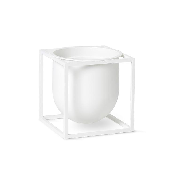 Kubus Flowerpot 14 von by Lassen in weiß