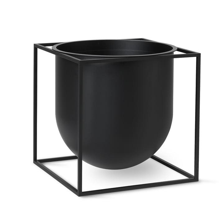 Kubus Flowerpot 23 von by Lassen in schwarz