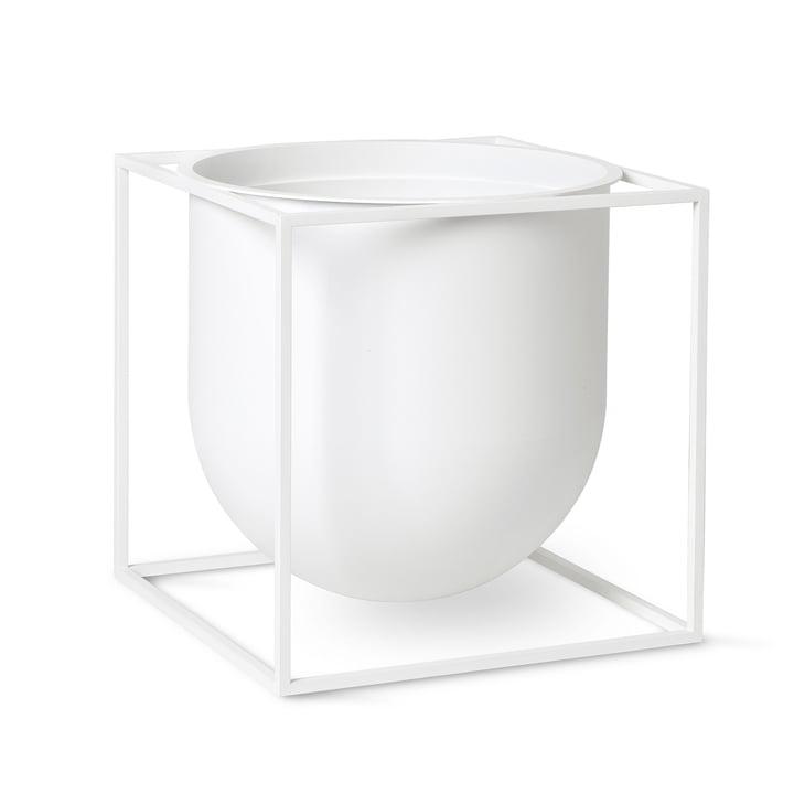 Kubus Flowerpot 23 von by Lassen in weiß