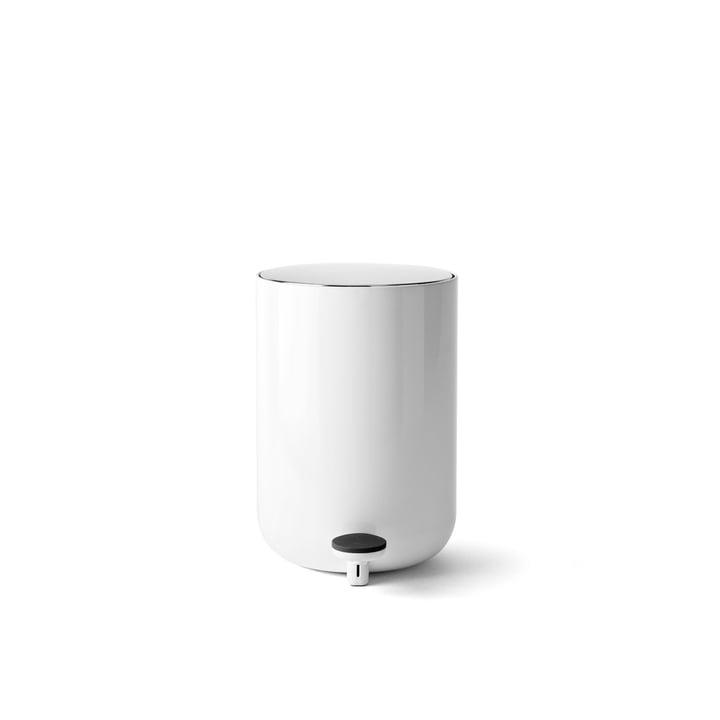 Pedal Abfalleimer 4 l von Menu in weiß