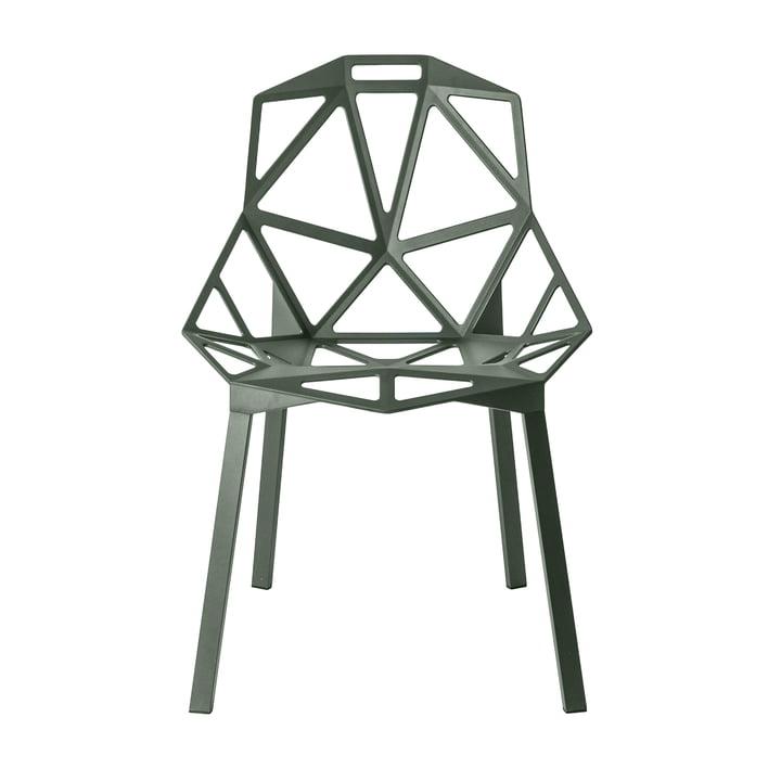 Chair One Stapelstuhl von Magis in graugrün