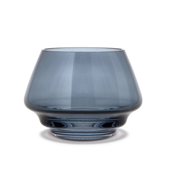 Flow Teelichthalter Ø 10 cm von Holmegaard in blau