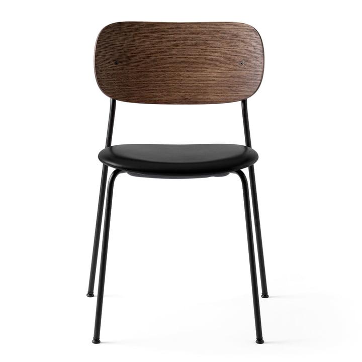 Co Dining Chair in schwarz / Leder schwarz / Eiche gebeizt von Menu