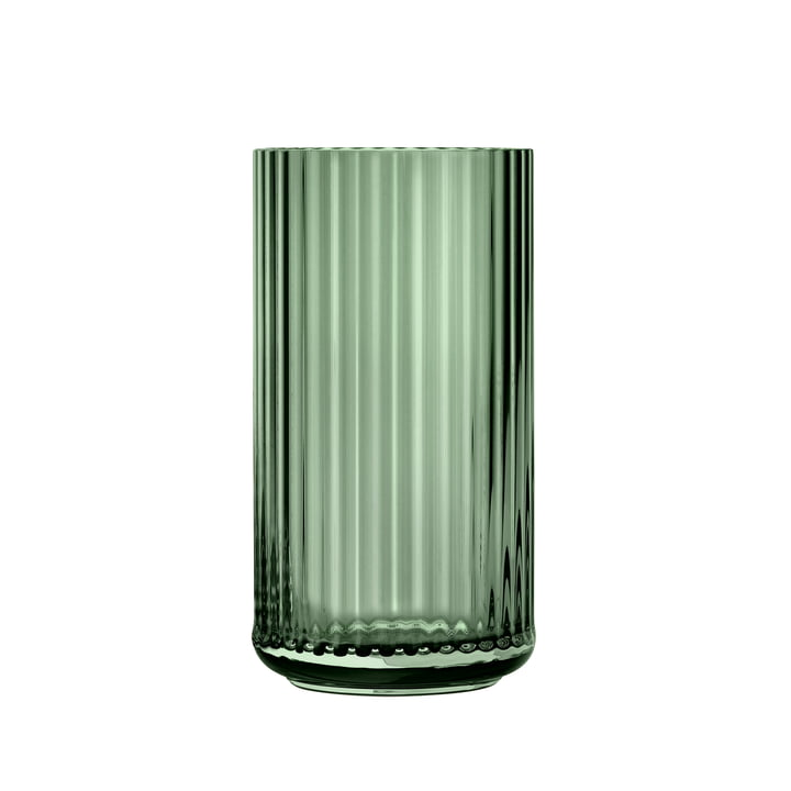 Glasvase H 20 cm von Lyngby Porcelæn in grün