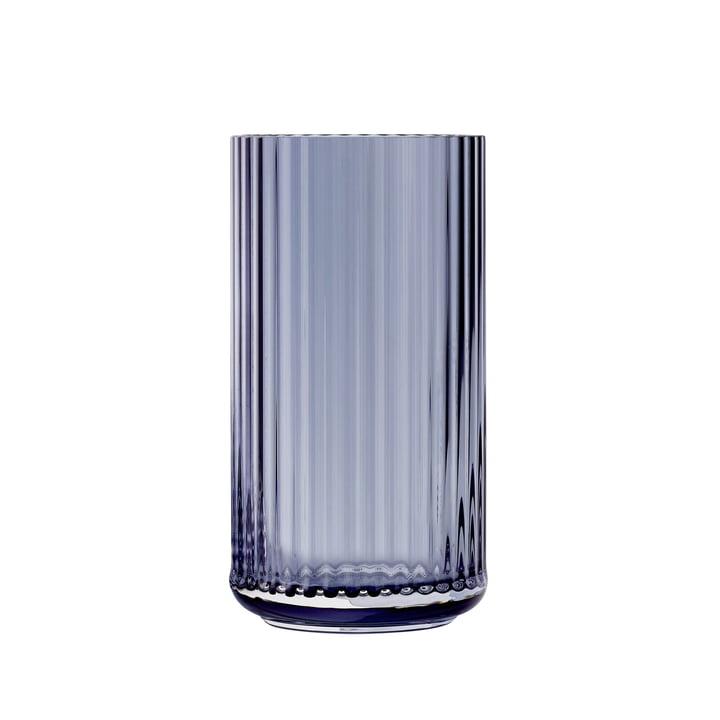Glasvase H 20 cm von Lyngby Porcelæn in blau