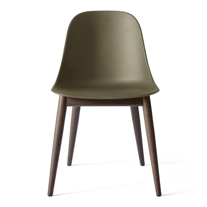Harbour Dining Side Chair in Eiche dunkel gebeizt / oliv von Menu