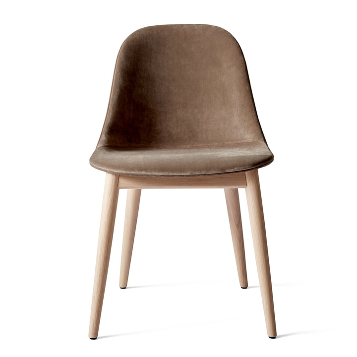 Harbour Dining Side Chair, Eiche dunkel gebeizt / braun (City Velvet CA7832/078) von Menu