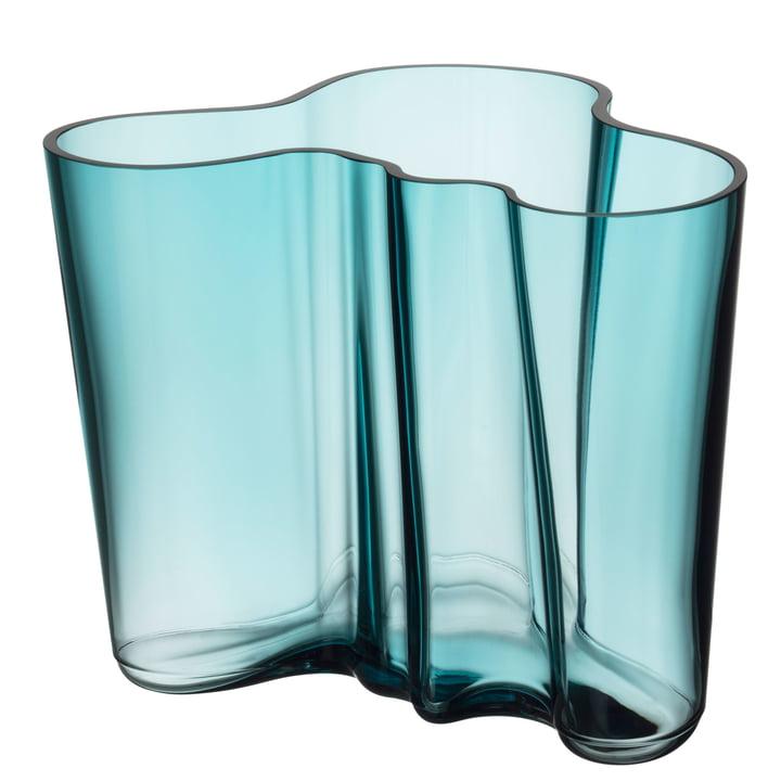 Aalto Vase Savoy 160 mm von Iittala in seeblau