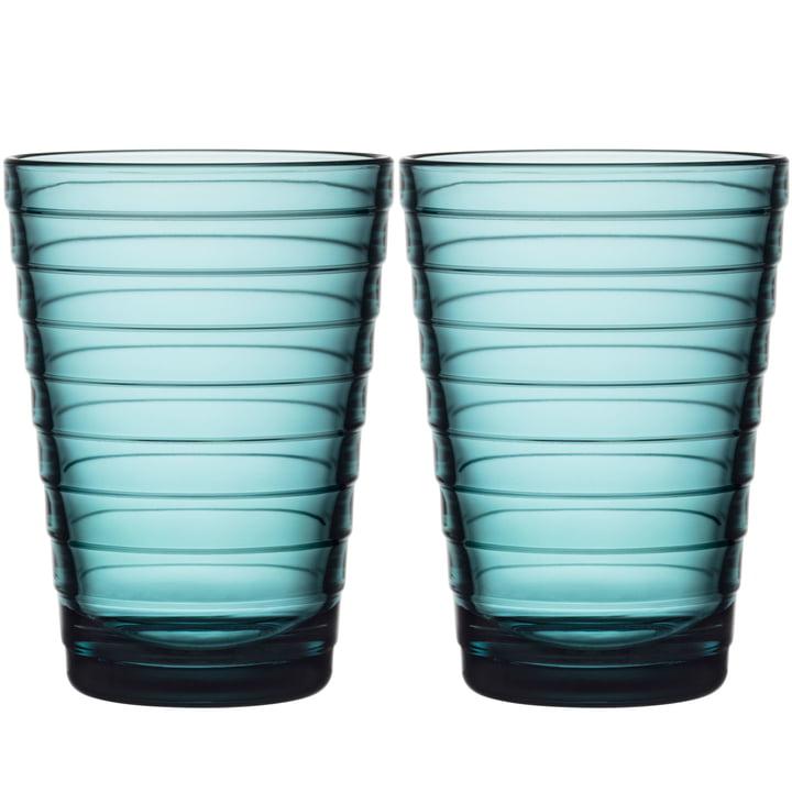 Aino Aalto Longdrinkglas 33 cl von Iittala in seeblau (2er-Set)