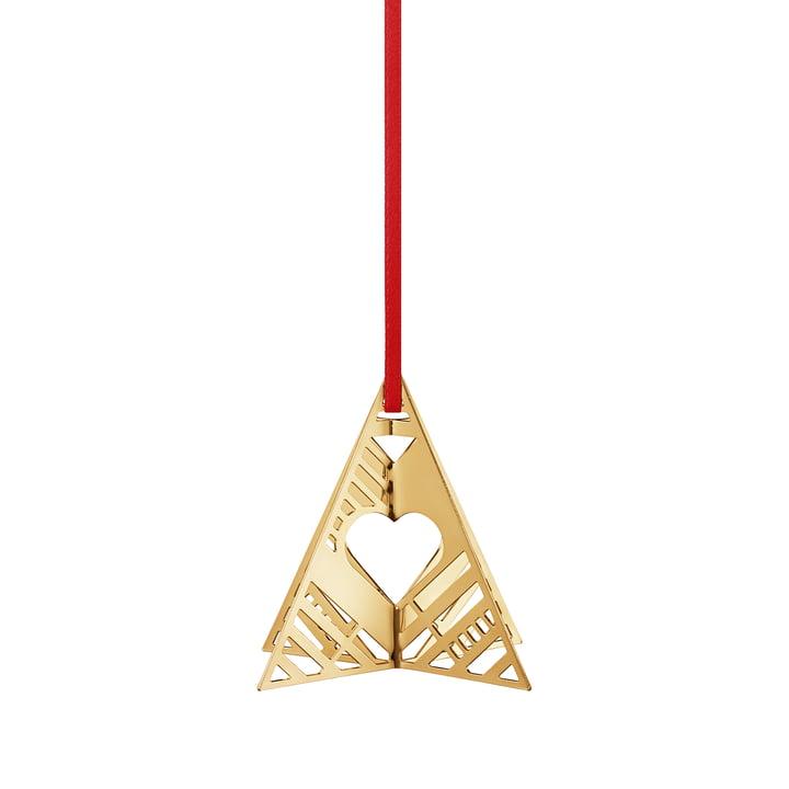 Holiday Ornament 2019 Baum, gold von Georg Jensen