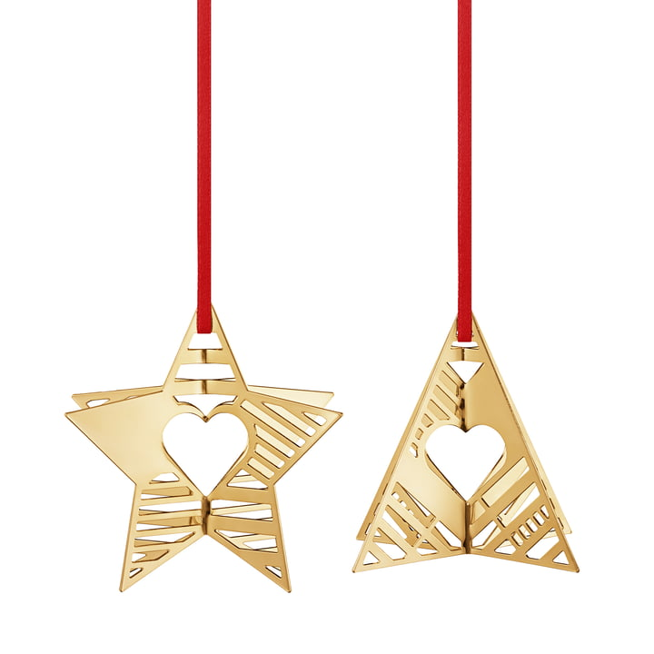 Holiday Ornament 2019 Stern & Baum, gold von Georg Jensen