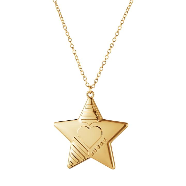 Ornament Anhänger 2019 Stern, gold von Georg Jensen
