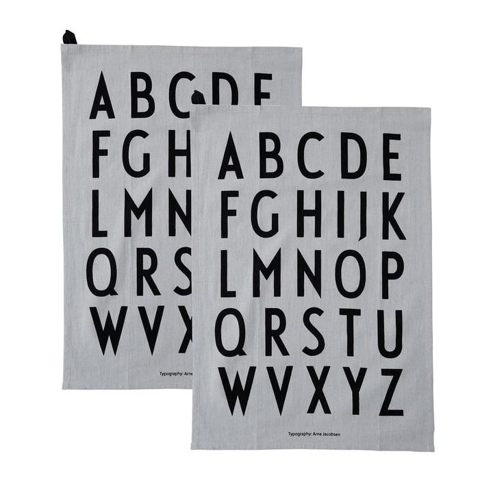 Classic Geschirrtuch in grau (2er-Set) von Design Letters