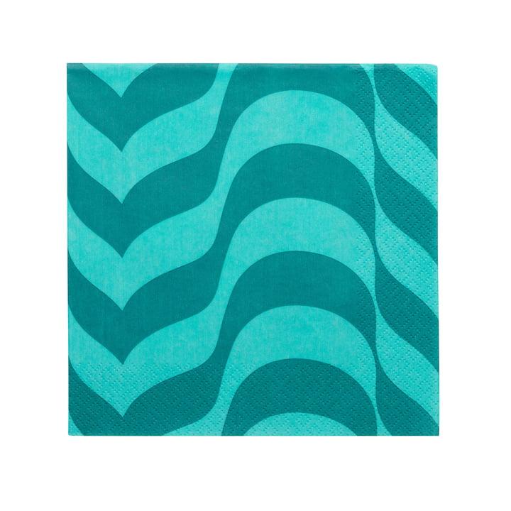 Aalto Papierserviette 33 x 33 cm von Iittala in seeblau