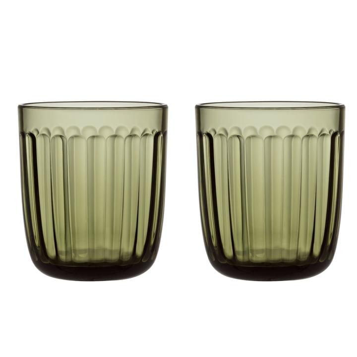 Raami Trinkglas 26 cl (2er-Set) von Iittala in moosgrün