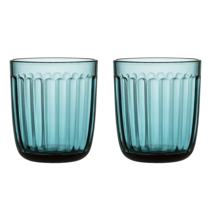Raami Trinkglas 26 cl (2er-Set) von Iittala in seeblau