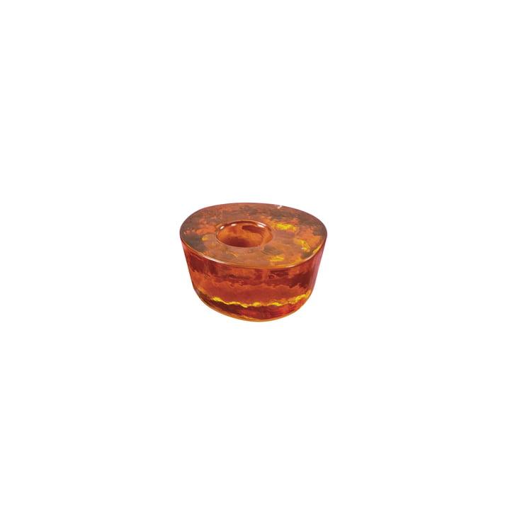 Atoll Kerzenhalter small von Pulpo in amber