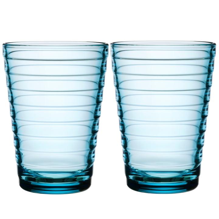 Aino Aalto Longdrinkglas 33 cl von Iittala in hellbau (2er-Set)