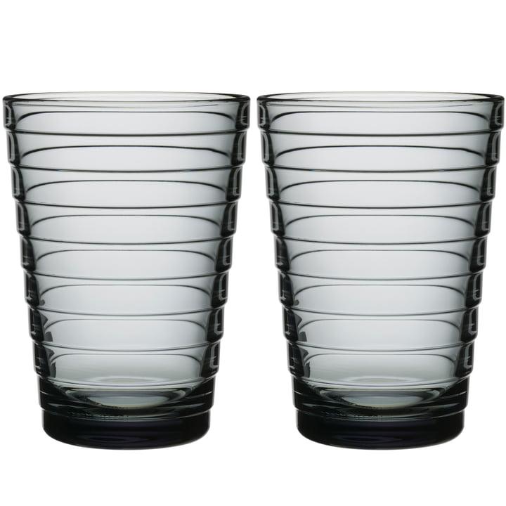 Aino Aalto Longdrinkglas 33 cl von Iittala in grau (2er-Set)