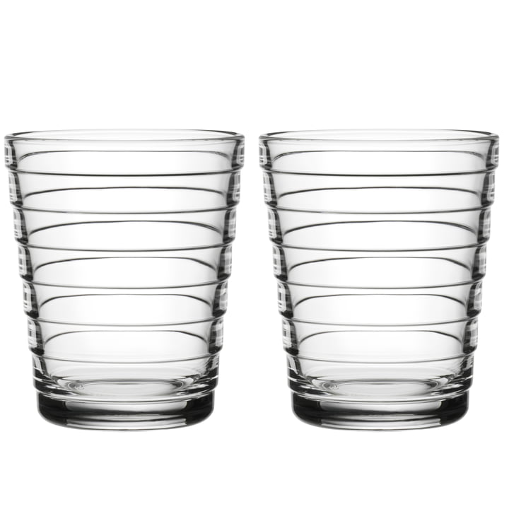 Aino Aalto Glasbecher 22 cl von Iittala in klar (2er-Set)
