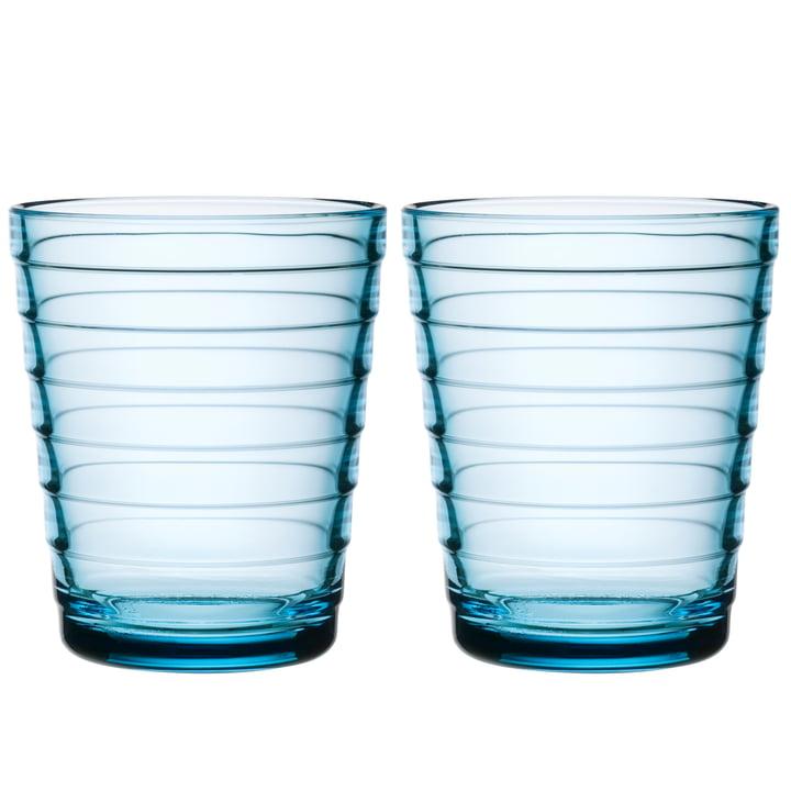 Iittala - Aino Aalto Glasbecher 22 cl, hellblau (2er-Set)