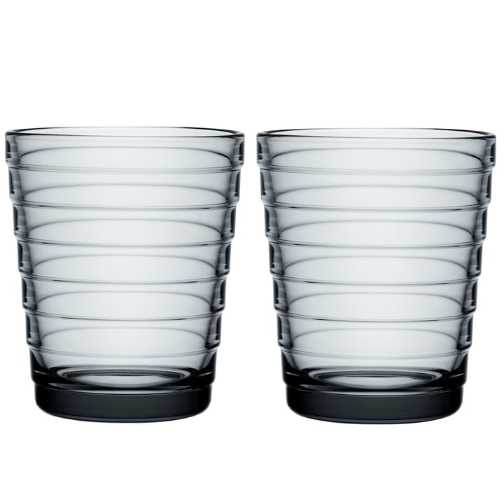 Aino Aalto Glasbecher 22 cl von Iittala in grau (2er-Set)