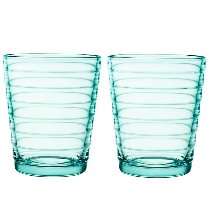 Aino Aalto Glasbecher 22 cl in wassergrün (2er-Set) von Iittala