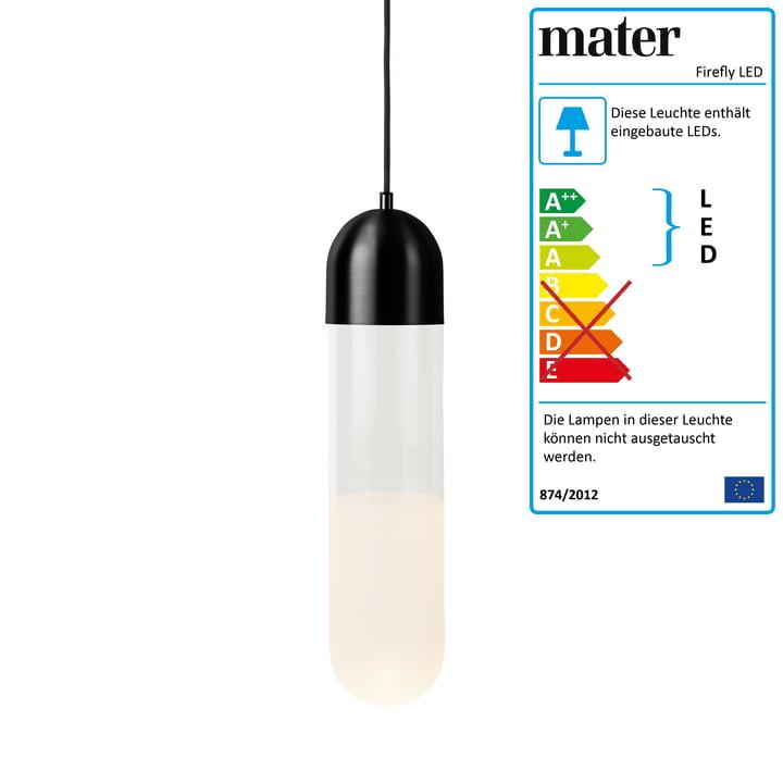 Firefly LED Pendelleuchte von Mater in schwarz