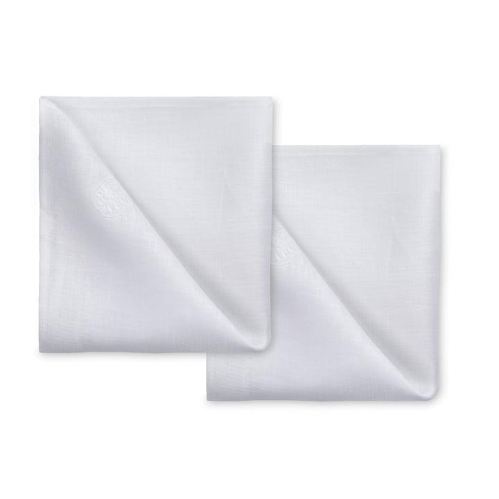 Plain Stoffservietten 45 x 45 cm (2er-Set) von Georg Jensen Damask in weiß