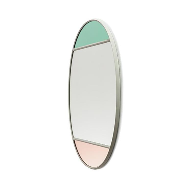 Vitrail Wandspiegel oval 50 x 60 cm von Magis in hellgrau / mehrfarbig