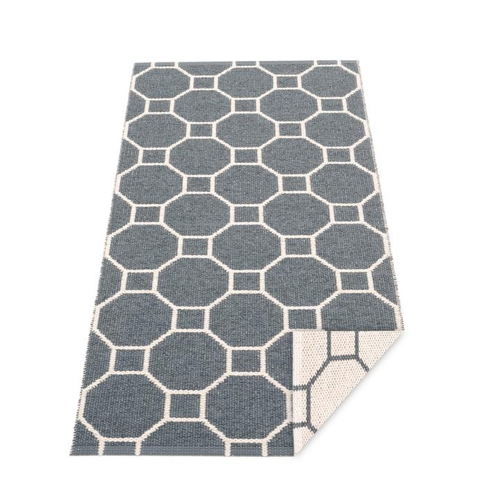 Rakel Wendeteppich, 70 x 150 cm in granit / vanilla von Pappelina