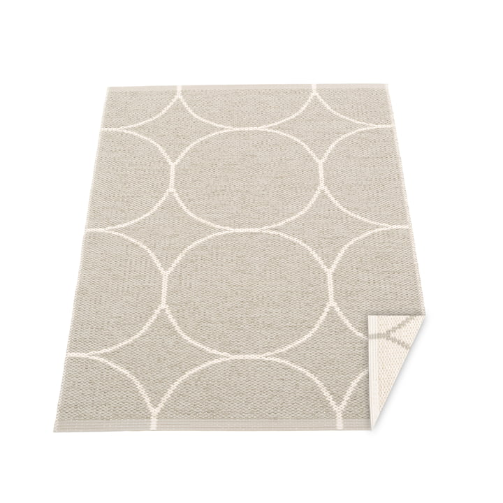 BooWendeteppich, 70 x 100 cm in linen / vanilla von Pappelina