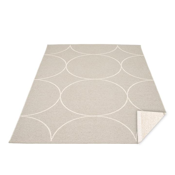 BooWendeteppich, 180 x 275 cm in linen / vanilla von Pappelina