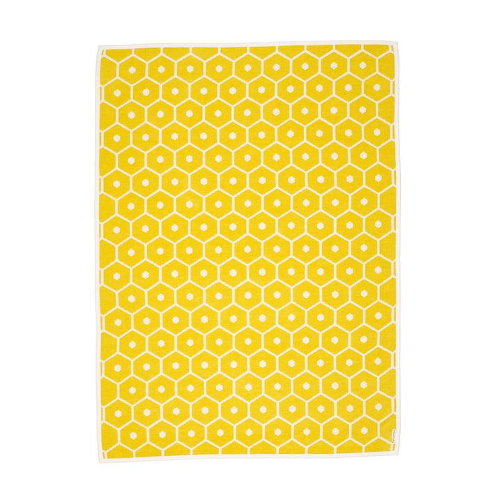 Honey Decke, 140 x 180 cm in lemon von Pappelina