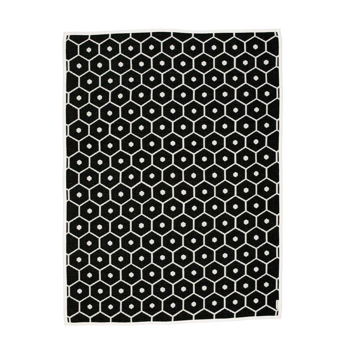 Honey Decke, 140 x 180 cm in schwarz von Pappelina